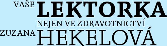lektorka Zuzana Hekelová